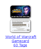 World of Warcraft Gamecard 60 Tage