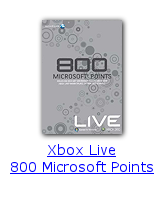 Xbox Live 800 Microsoft Points